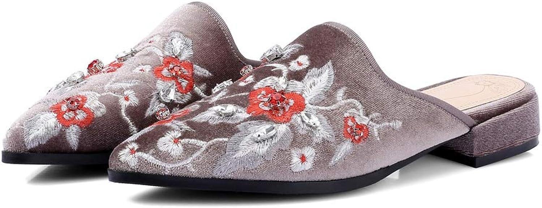 MENGLTX High Heels Sandalen  Neue Damenschuhe Hochwertige Spitze Mode Schuhe Flach Große Größe 33-42 Bequeme Sommer Mules Schuhe B07QLTFV2V  Heißer Verkauf