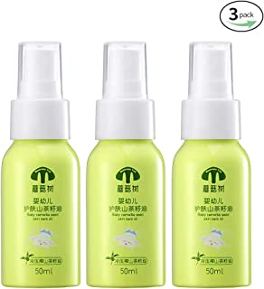 Mushroom Tree Baby Camellia Seed Skin Care Oil 100% Pure & Natural Cold Pressed Moisturizer for Massage Safe Essential Oil Ideal for Dry Sensitive Skin (1.76oz) (1.76 fl.oz(3 Pack))