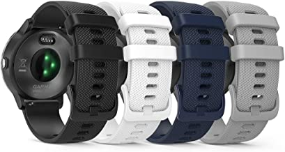 TUSITA Quick Release Band 20mm Replacement for Garmin Approach S40 S12 S42,Forerunner 245 645,Venu Sq,Vivoactive 3 Music,V...