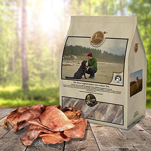Tiera Natural gesunde Hunde Leckerlies Schweineohren, 360 g
