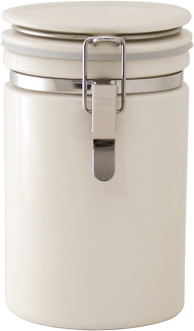 ZEROJAPAN Coffee Canister 200 Ivory CO-200 Easy-to-use import Fixed price for sale IV japan