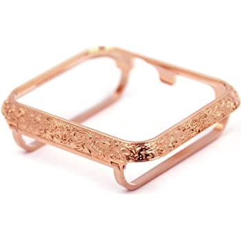 Amazon Com Callancity Sparkling Case Bezel Face Housing Cover Compatible For Apple Watch Series 3 38mm Rose Gold 38mm Electronics