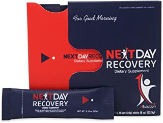 Next Day Recovery Hangover Cure - All Natural Hangover Prevention Supplement - Smart Anti Hangover Remedy for Liver Support - Morning Recovery Drink After Alcohol Aid for Hangovers (10)