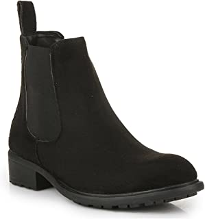 Bruno Manetti Women Black (14552-S) Suede Leather Heeled Boots