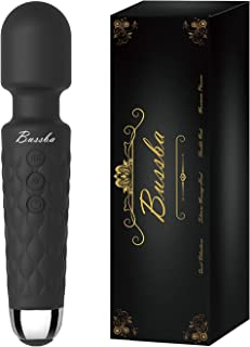 Bussba Personal Cordless Handheld Wand Massager Powerful Quiet Magic Rechargeable Wireless Waterproof Multi-Function Massa...
