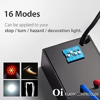 KiWAV 16 in 1 Oi Flash Strobe Controller Flasher Module LED Brake Stop Hazard Light Alert Relay Indicator Turn Signals