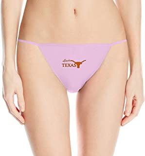 LBGN Hot Sexy T-back Women's Texas Longhorns Logo Microfiber Bikinis Thong
