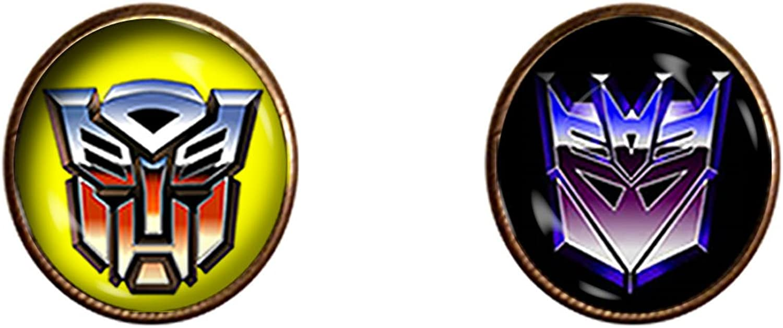 Chaoticfashion Transformers Cuff Links 16mm Autobots Decepticons Jewelry Gift Charm