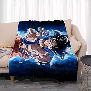 GUANGZHENG Serie Dragon Ball Son Goku Ultra Instinto Animado/de Dibujos Animados de la Manta/de un Solo Lado imprimió el Modelo 3D / Sofá Aire Acondicionado Manta/Dormitorio Siesta Manta/Los a