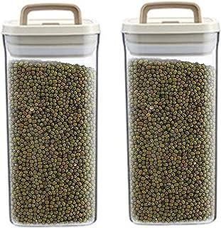 Pkfinrd 2pcs Riz Storage Conteneur de Stockage en Plastique Conteneur de Stockage à air de Riz Conteneur de céréales pour ...