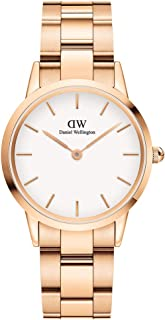 Daniel Wellington Japanese Quartz Watch with Stainless Steel Strap, Rose Gold, 16 (Model: DW00100211)