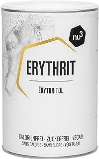 nu3 Eritritol Premium - Sustituto de azúcar polivalente - 750 g de enducolorantze erythrit sin calorías - Sin impacto sobre el índice de glicemia - Alternativa ideal para dietas, cocinar y repostería