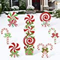 Huray Rayho 10 Pack Christmas Candy Cane Yard Signs…