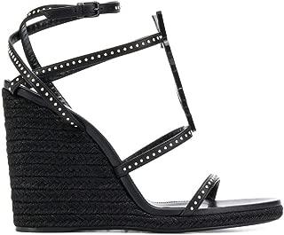 SAINT LAURENT Luxury Fashion Womens 5927150RRVV1000 Black Wedges | Fall Winter 19
