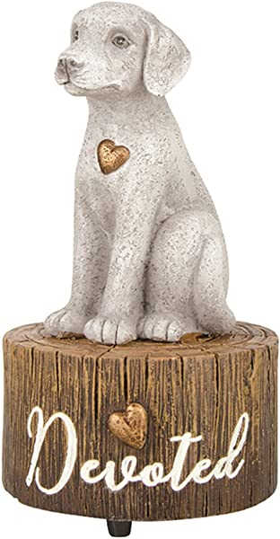 Hand Painted Resin Dog Musical Figurine Plays My Favorite Things 5 1 2 Inch