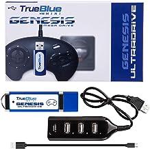 XSHION True Blue Mini Ultradrive Pack for Sega Genesis / Mega Drive Mini,Game Enhancer,813 Games