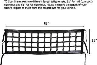 TC Sportline TR-12_13 Black Truck Tailgate Net MID Size