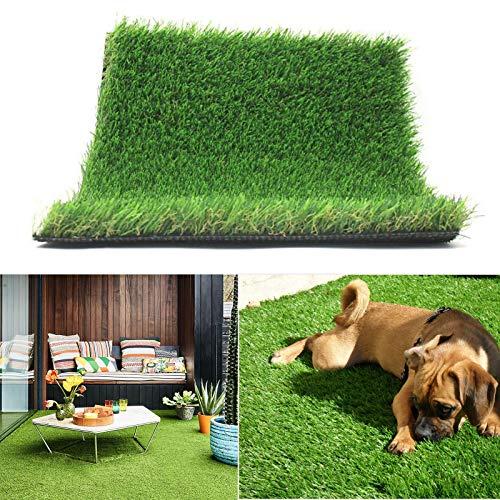 Realistischer Kunstrasen, Indoor- / Outdoor-Gartenrasen, Kunstrasen Landschaftsmatte, dichter Kunstrasenteppich 3.3FTX5FT(16.5 Square FT) 3FT
