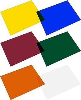 Selens 6 Stück 40,6 x 50,8 cm Lichtgels Fotolichter Gelfilter Transparente Farbkorrektur Lichtblätter für Fotografie Rotkopf Stroboskop Taschenlampe (6 Farben)