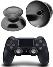 PinPle Metal Analog Thumbsticks Thumb Stick Joystick Replacement Cap Cover for PS4 PlayStation 4 Gray