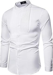 SSBZYES Camisas De Manga Larga para Hombre Camisas De Vestir Uniformes Camisas Ajustadas para Hombre Camisas Informales pa...