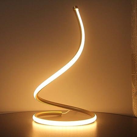 Lampe de table LED - Lampe de chevet - Intensité variable - Lampe de table - Économe en énergie - Protection des yeux - Lampe de lecture pour 3 niveaux de luminosité - Pour chambre à coucher, salon