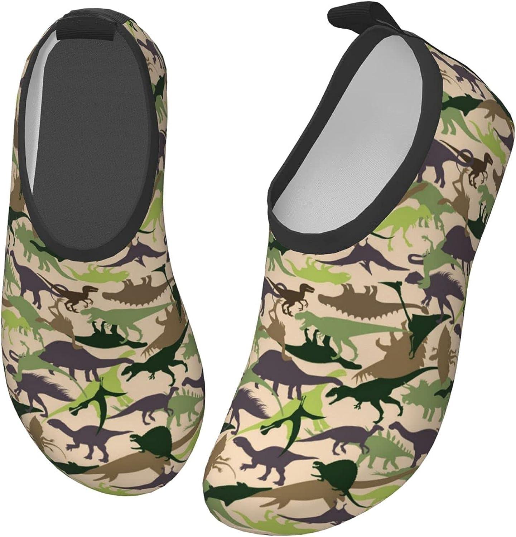 Fairy UMI Dinosaur Camo Toddler Water Shoes Non-Slip Aqua Sports Shoes Barefoot Swim Shoes Beach Surf for Boys Girls