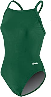 Dolfin Women's Solid Competition V-2 Back Swimsui