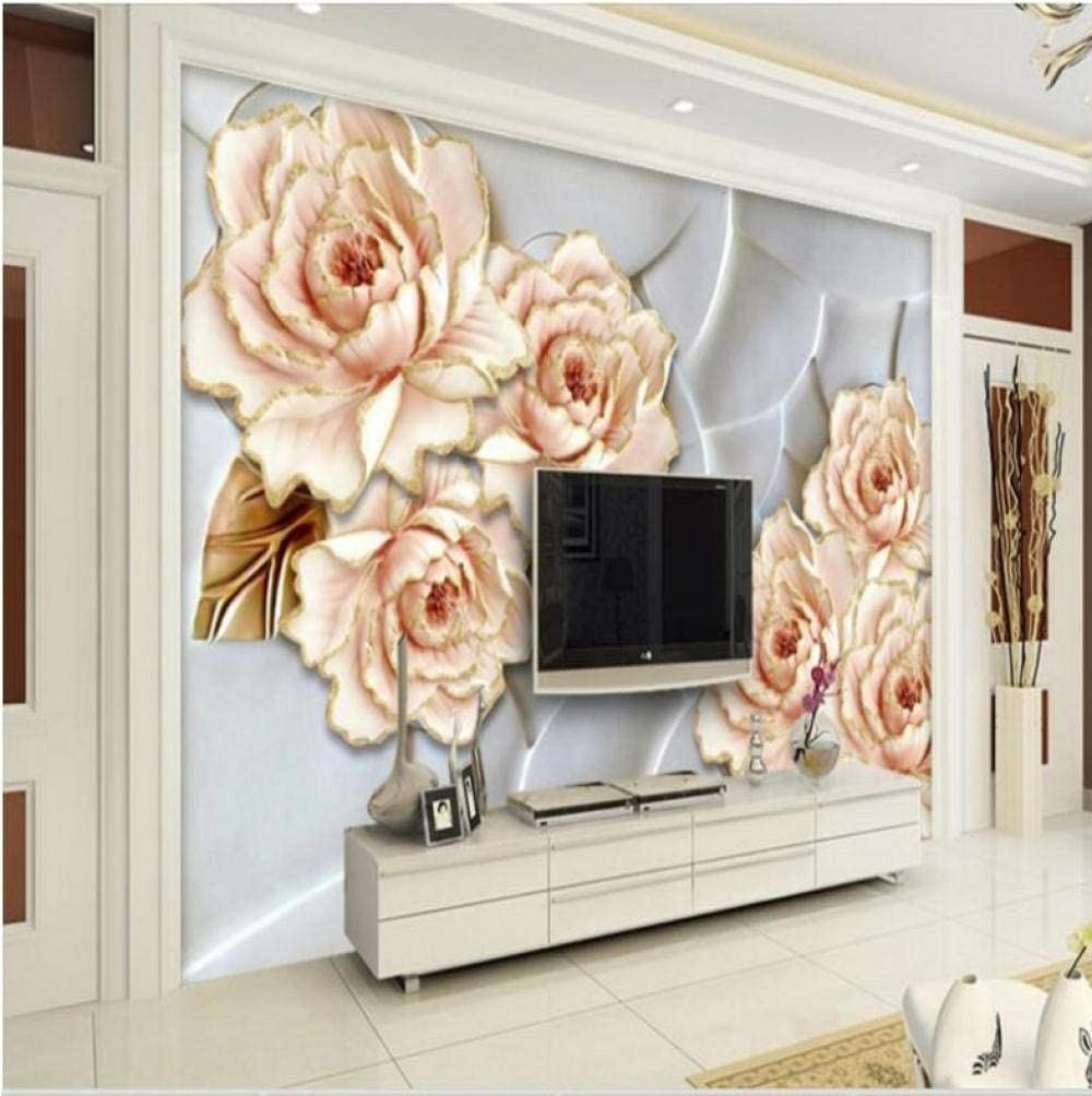 Max 54% OFF Pbldb Removable Large Shipping included Custom Wallpaper Pe Floral Living Embossed