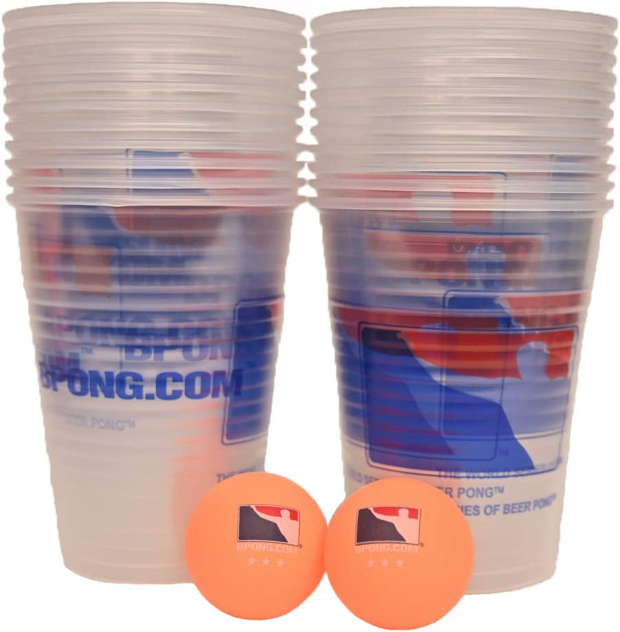 BPONG Balls and Great interest Cups Game Dedication Set Kit 22 Clear 2 with 3- x