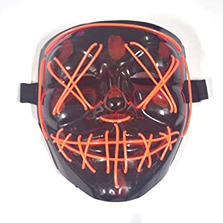 TXOZ LED Horrible Halloween Mask, Halloween Cosplay Halloween Costume LED Luminous Terrible Purifying Respirator (Color : B)