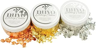 Nuvo Gilding Flakes - Radiant Gold, Silver Bullion & Sunkissed Copper - 3 Item Tonic Studios Bundle