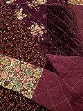 Q105.060 Clayre und Eef Tagesdecke Quilt Plaid PURPLEFLOWER lila/rosa 180x260 cm
