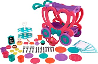 Kid.c Kids Pretend Tea Cart Play Set with Serving Tray & 47-Pieces Tea Accessories