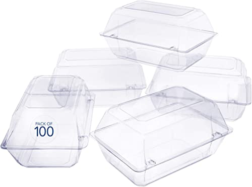 discount 100 outlet online sale Pack Clear Plastic Flower Box for Corsage, Boutonniere, outlet sale Rose, Orchid Prom Wedding Craft Container 9x6x5 online