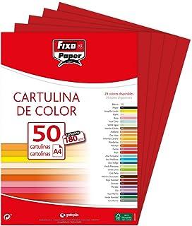 Fixo 11110356Lot de 50Feuilles de papier cartonné A4, couleur rouge carmin
