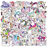 JZLMF 100 pegatinas de dibujos animados de unicornio, grafiti, agua, taza, teléfono móvil, monopatín, maleta, pegatinas impermeables