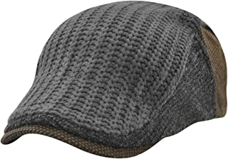 Wiwsi Men's Women Gatsby Cap Plaids Checks Flat Golf Driving Cabbie Newsboy Hats