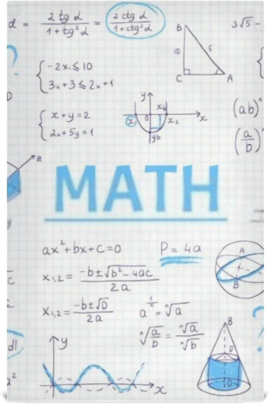 CCH Kitchen Dish Towel Set 6 Doodle Math Tucson San Antonio Mall Mall Geometry Algebra School