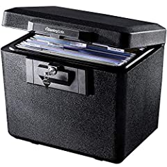 Fireproof box is UL Classified to endure 1/2 hour at 1550°F to protect irreplaceable documents and valuables from fire Fire safe box is ETL Verified to protect CDs, DVDs, and USBs from fire damage ; Material : Captured Fire Insulation Fireproof lock ...