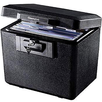 SentrySafe 1170 Fireproof Box with Key Lock 0.61 Cubic Feet Black