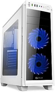 Talius Vorttex - Caja Gaming ATX - USB 3.0 - USB 2.0 - Sin Fuente - Blanca (Blanca)