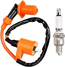 MecoTime Automotive Racing Engine Ignition Coil Electrode Spark Plug for GY6 Chinese 50cc 125cc 150cc Motorcycle Honda ATV Dirt Bike Taotao Kymco Scooter Moped Go Kart