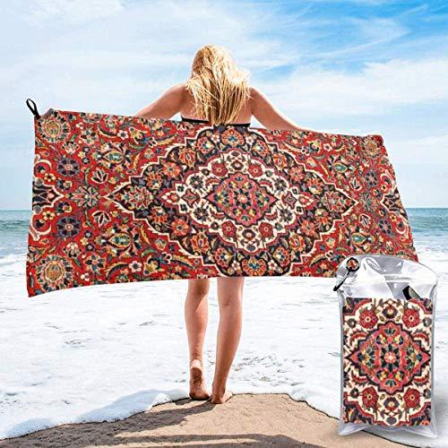 N/A Kashan Antiek Centraal Perzisch Tapijt Print Strand Sneldrogende Handdoek Microvezel Yoga Fitness Absorberende Handdoek Outdoor Klimmen Sneldrogende Handdoek