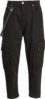 Helmut Lang Men's Overdyed Slub Twill Cropped Cargo Pants
