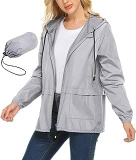 Rain Jacket Lightweight Waterproof Raincoats Packable Active Outdoor Hooded Womens Trench Coats