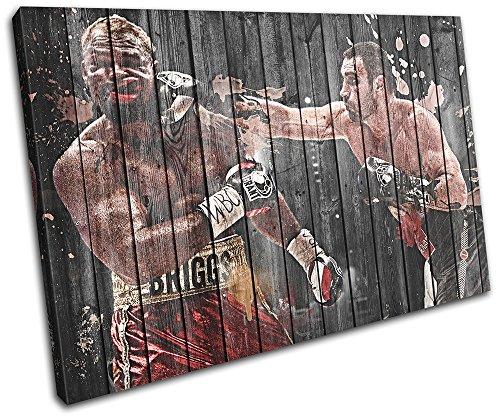 Bold Bloc Design - Vitali Klitschko Boxing Sports 135x90cm SINGLE Leinwand Kunstdruck Box gerahmte Bild Wand hangen - handgefertigt In Grossbritannien - gerahmt und bereit zum Aufhangen - Canvas Art Print