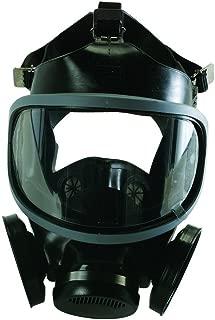 MSA 480263 Ultra-Twin Full Facepiece Silicone Reusable Respirator, Small, Black/Grey