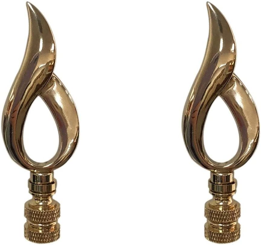 Direct stock discount Overstock Price reduction Royal Designs Modern Flame Lamp Finial Polishe Design