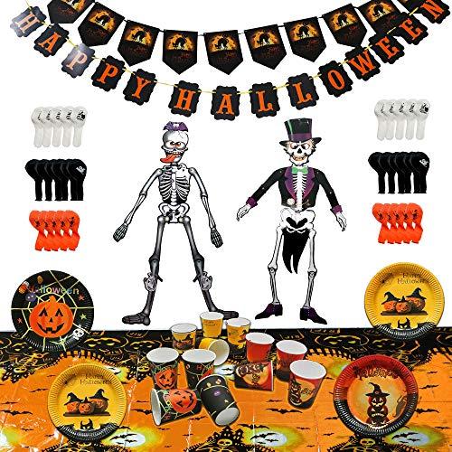 THE TWIDDLERS Paquete de Decoración de Halloween Completo, 88 Piezas - Todo en un Paquete - Ideal para Bolsas de Regalo y Fiestas Accesorio de Halloween